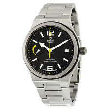 Tudor North Flag Black Dial Stainless Steel Automatic Mens Watch 91210N-BKSS