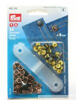 9mm PRYM JEANS DENIM RIVETS WITH FIXING TOOL ( SILVER OR BRONZE )