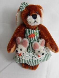 "World Of Miniature Bears Dollhouse Miniature 2.75"" Bunny Rabbit #639 Closeout"