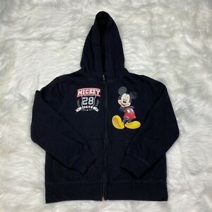 Disney Mickey Mouse Hoodie Jacket Boy's Youth Size 8 Black School Free Shipping