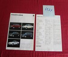 N°4287  / VOLVO Gamme 142,144,120,1800 S  :  prospectus deutch text  1968