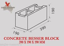 Concrete Blocks -  390 x 190 x 190  (20.01 / 20.42)