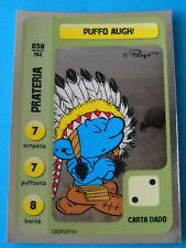 CONAD CARD PUFFI - PUFFIAMO LA NATURA - N. 038 PUFFO AUGH! - LUCIDA ARGENTATA