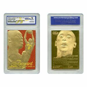 1996-97 KOBE BRYANT FEEL THE GAME Fleer NBA Legacy GOLD ROOKIE Home GEM-MINT 10