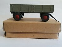 VINTAGE DINKY MECCANO SUPERTOYS DIECAST MODEL TRAILER RED HUBS GREY BOXED