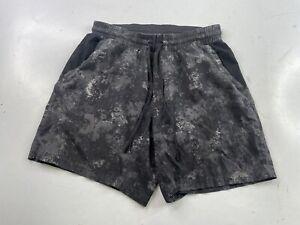 Lululemon Shorts Athletic Shorts Men's Small Gray Black Camo Unlined