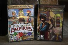 2 TIMELESS GAMES CRADLE OF PERSIA CRADLE OF EGYPT& TINY TOKEN EMPIRES PC CD ROM