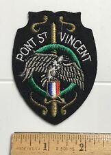 Pont Saint St. Vincent France Eagle Sword Crest French Souvenir Felt Patch Badge