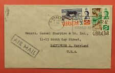 DR WHO 1962 GIBRALTAR AIRMAIL TO USA 183476