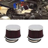 2 Pcs 55mm Motorcycle Air Filter Air Pods For Honda BMW Yamaha Kawasaki Suzuki