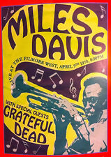 "Reproduction ""Miles Davis"" Poster, Jazz, Home Wall Art, Vintage Print"