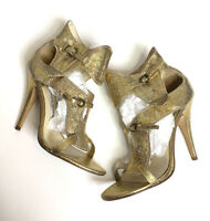 Camilla Skovgaard Metallic Leather Sandals Size 38.5