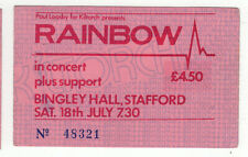 Rainbow Difficult To Cure Tour Ticket Stafford 1981