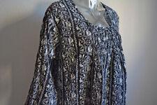 ~~~ Gudrun Sjöden Kleid Black Boho Dress XL Vintage Blumen floral ~~~