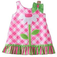 YOUNGLAND Baby Girls' Gingham Flower Sleeveless Dress PINK Size 18 Months NWT