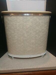 Vintage Pearl Vinyl 1960s - 1970s Hamper Laundry Basket Mid Century  Vinyl