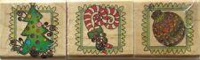 CHRISTMAS ICONS Rubber Stamp Set 9970 Inkadinkado Brand NEW! tree candy cane