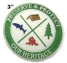 Preserve & Protect Our Heritage Patch Souvenir Travel Embroidered Iron / Sew-on