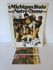 1979 Notre Dame Fighting Irish Vs Michigan State Program And Two Ticket Stubs