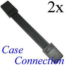 2x Riemengriff - schwarz - Stahleinlage # Koffergriff Casegriff Strap Handle