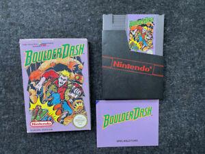Boulder Dash - Nintendo - NES Spiel - OVP & Anleitung - CiB