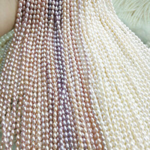 Wholesale Natural Freshwater Pearl Loose Beads Rice Bead Making DIY Necklace