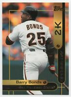 2000 TOPPS OPENING DAY 2K #2 BARRY BONDS — NM-MT (8)+