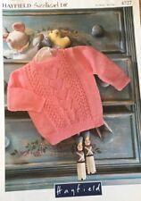 "Hayfield Knitting Pattern Girls Babies Jumper Size 16/22"""