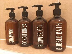 3x Personalised Dispenser Bottles Baby Toiletries Shampoo Conditioner Shower Gel