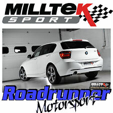 "Milltek BMW 116i F20 & F21 Cat Back Exhaust System 2.50"" non res plus fort SSXBM968"