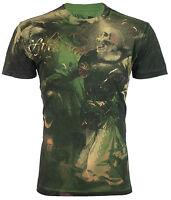 AFFLICTION Mens T-Shirt CONQUEROR Royalty Series SKULL Biker UFC Jeans VTG $78