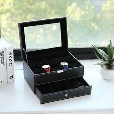 10 Slots Protable Watch Box Mens Watch Organizer Jewelry Display Case Lockable