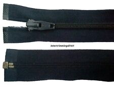 "YKK ZIP NAVY, 17"" & 22"" & 25.5"", NYLON TEETH PLASTIC OPEN END, NO.5"