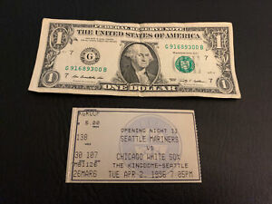 1996 Seattle Mariners MLB Ticket Stub Kingdome Opening Night Vintage Collectible