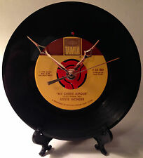 "Recycled STEVIE WONDER 7"" Vinyl Record / My Cherie Amour / Record Clock"