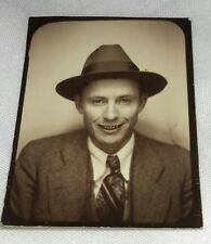 Vintage Old 1934 Passport Style Photo of Man GEORGE WALTERS Wearing Fedora Hat
