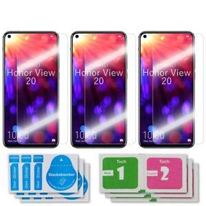 3x Huawei Honor View 20 Schutzglas 9H Echtglas Panzerfolie Displayschutz