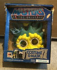 Rare, Vintage He-Man Masters Of The Universe Mer-Man Costume & Mask NIB Cosplay