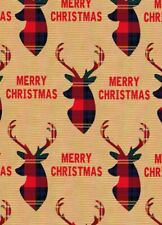 Merry Christmas - Wrapping Paper - Gift Wrap - Brown - 2 sheets - 70 x 50cm