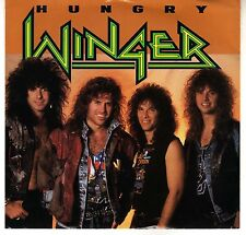 WINGER: HUNGRY / TIME TO SURRENDER 45 RPM REB BEACH HARD ROCK HAIR METAL