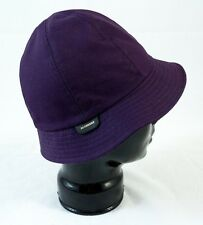 "Burberry ""Gabrielle"" Solid Purple Cotton Cloche S $375 Italy BNWT 100% Authentic"