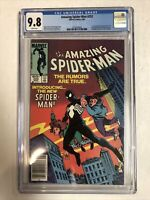 Amazing Spider-Man (1984) # 252 (CCG 9.8) Newsstand Edition | 1st Black Suit