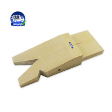 JEWELERS WOODEN BENCH PIN WITH V-SLOT FOR WORKBENCH CRAFT TOOLS