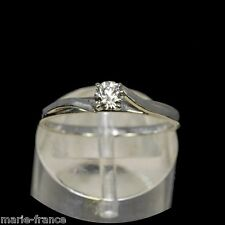 14k white gold ring, 20pt brilliant-cut genuine, natural diamond I/VVS rings M-F