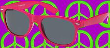 A178✪  Sonnenbrille 80er Jahre New Kids Wave Shoez NDW wayfarer pink