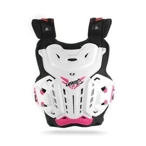 NEW LEATT 4.5 CHEST PROTECTOR JACKI LADY WHITE PINK ROOST MOTOCROSS BODY ARMOUR