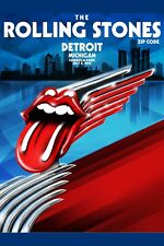 The Rolling Stones at Comerica Park Detroit Mi. Concert Poster 2015   13x19