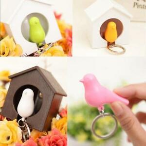 Single/Duo Sparrow Bird Nest KeyChain Key Ring Holder Hook Whistle Ring NEW N3