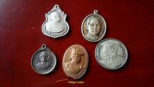 THAILAND , 5 medals 2 bronze,+ 3 copper- Nickel King Rama V - Rare ,EX Condition