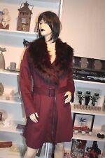 manteau atmosphere,fourrure,hiver,lie de vin,pin up,retro,neuf,44,grande taille